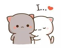 Images Kawaii, Cute Cartoon Images, Cute Couple Cartoon, Cute Love Cartoons, Cute Cartoon Wallpapers, Cute Bear Drawings, Cute Cartoon Drawings, Kawaii Drawings, Cute Anime Cat