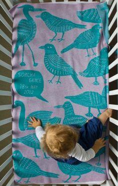 manta infantil Mantas para bebés con su nombre