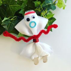 Forky inspired hairbow : Excited to share this item from my shop: Forky inspired hairbow Disney Hair Bows, Festa Toy Story, Hair Bow Tutorial, Flower Tutorial, Ribbon Hair Bows, Ribbon Flower, Fabric Flowers, Crafts For Kids, Diy Crafts