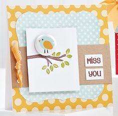 Miss You Birdie Card by @Jess Liu Witty