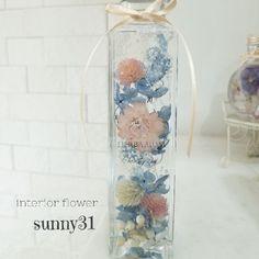☆ハーバリウム ブルーピンク☆ ハンドメイドのインテリア/家具(インテリア雑貨)の商品写真