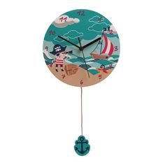 Pirate Parrot, 3d Wall Clock, London Clock, Treasure Island, Treasure Chest, Wood Wall, Pirates, Clocks, Products
