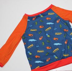 raglan t-shirt pattern 2T and tutorial