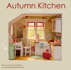 ♥ Custom Handmade Diorama AUTUMN KITCHEN♥ - Nerea Pozo Art