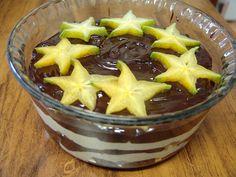 Cream cheese, ganache and star fruit trifle!