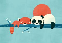 Pandas Art Print by Jay Fleck | Society6