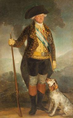 Retrato de 'Carlos IV, cazador' de Francisco de Goya (1799)
