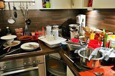 """""""P-tyypin ruuanlaittoon kuuluu keittiön siivous ihan omana työvaiheenaan."""""""