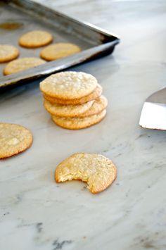 2/3 cup granulated sugar 7 ounces almond paste 1/4 teaspoon salt chewy lemon almond cookies  2 teaspoon lemon zest 1 teaspoon vanilla extract 2 large egg whites, lightly beaten (you won't use all of these)