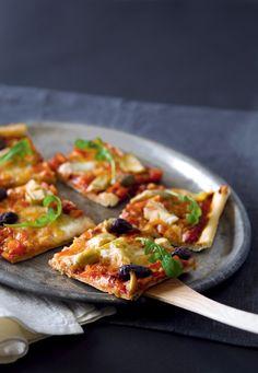 Artisokka-mozzarellapizza #food #vegetarian