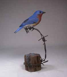 Hand Carved Inspiration curated by The Interior Outlet, Castle Hill, Sydney Wood Bird, Bird Sculpture, Wood Creations, Wooden Art, Whittling, Acrylic Colors, Bird Art, Wood And Metal, Blue Bird
