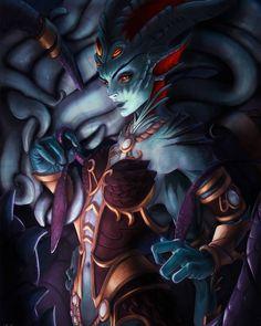 "BEST WorldofWarcraft ARTWORK🎨 on Instagram: ""Queen Azshara 🔥 → Follow @warcraftworld_ for more 💫 . .Art by 👤Lisa Marie Sørensen (Artstation) . . #warcraftart #warcraft #worldofwarcraft…"" Dark Fantasy Art, Fantasy Women, Fantasy Girl, Warcraft 3, World Of Warcraft, Eldritch Horror, Fantasy Warrior, Pulp Art, Monster Girl"