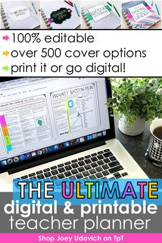 Make this your most organized school year ever with the Ultimate Teacher Planner system by Joey Udovich. This best selling teacher binder includes a print and digital version to meet your teacher organization needs. Includes a variety of pages for classroom organization, student information, lesson plans, substitute binder, student data and more. Customize your #teacherplanner to meet your needs. Includes free updates for life!  Never buy another planner again! #teacherbinder… Teacher Planner, Teacher Binder, Teacher Organization, Your Teacher, Sixth Grade, Second Grade, Teaching Kindergarten, Teaching Ideas, Student Data Tracking