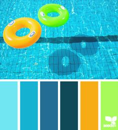 Summer Brights Color Palette with bright colors that would enhance any child's bedroom