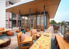 Austin Skyline, Austin Hotels, Limestone Wall, Austin Wedding Venues, Pool Bar, Residential Real Estate, Outdoor Swimming Pool, Floor To Ceiling Windows, Rooftop Bar