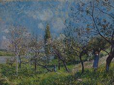 """""""Gyümölcsöskert tavasszal"""" Alfred Sisley"""