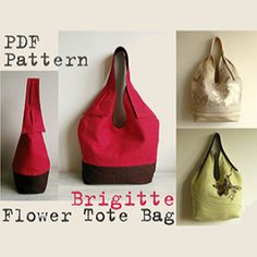 Tote Bag Brigitte Flower PDF Sewing Pattern | Sewing Pattern | YouCanMakeThis.com