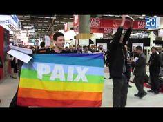 Eurosatory Manifestation BDS devant les stands israéliens