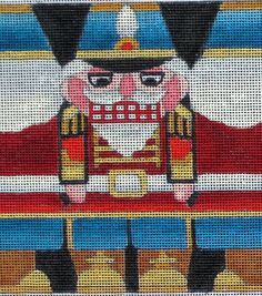 Your place to buy and sell all things handmade Nutcracker Christmas, Christmas Cross, Christmas Holidays, Nutcrackers, Christmas Embroidery, Needlepoint Canvases, Loom Knitting, Crossstitch, Pin Cushions
