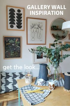 Create an easy to achieve Scandinavian inspired gallery wall. Art inspiration which is affordable and contemporary. Scandinavian Interior Design, Contemporary Interior Design, Inspiration Wall, Living Room Inspiration, Wall Magazine Holder, Moon Print, Picture Wall, Family Room, Gallery Wall