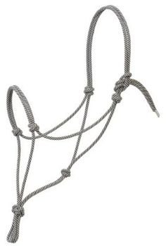 Weaver Leather Silvertip #95 Rope Halter, Black/White, Large