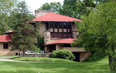 Frank Lloyd Wright's Taliesin house, Spring Green, Wisconsin