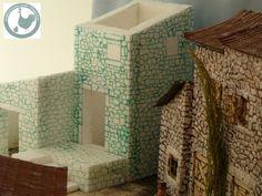 Suite à une demande d'Alain , nous allons détailler la peinture pour les maisons de notre crèche de Provence. A partir de récupération de polystyrène, la maison est montée, voir les détails ici Les pierres prennent forme sous la chaleur du pyrograveur.... Nativity, Decorative Boxes, Concept, Aquarium, Daycares, Mini Gardens, Nativity Sets, Dioramas, House Template