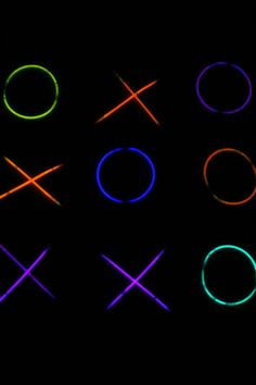 Playing in the dark game - tic-tac-glow - Kids Activities Blog