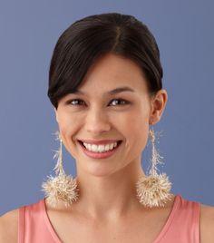 Too easy! Glitter earrings.