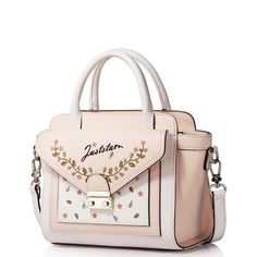 JUST STAR 2016 PU Leather Newest Embroidery Handbag Pink
