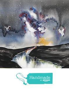 ORIGINAL painting Watercolor painting WATERCOLOR Painting, watercolor landscape, Pinetreeart, WATERCOLOR, landscape original, Original from Maine ARTist https://www.amazon.com/dp/B01H0FU4Y4/ref=hnd_sw_r_pi_dp_OwXxxbDQ08TVS #handmadeatamazon