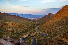 Gates Pass (Tucson, Arizona) Lived in Tucson from I have some great and not so great memories of this place. But the sunset. oooo the best Christine Woods, Tiny Dragon, Hello Ladies, Tucson Arizona, Winding Road, Amazing Sunsets, Great Memories, Grand Canyon, Gate