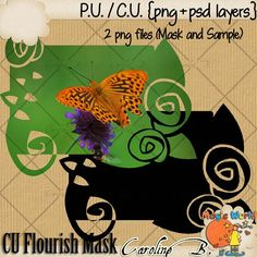 "#Caroline B. - CU Flourish Mask This product incudes :  - 1 black PNG file  - 1 PNG sample   - My CU Term Of Use (TOU).    This is NOT a CU4CU item.    Choose your licence : ""With Credit Required"" (Regular Commercial Use) or ""With No Credit Required"" (Additional $). http://www.carolineb-design.com/index.php?main_page=product_info&products_id=833"