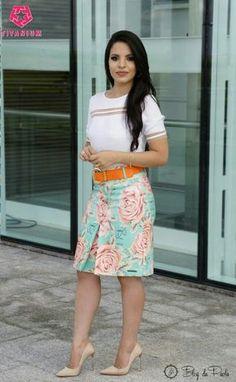 Look do Dia: Saia Evasê da Titanium Jeans | Blog da Paola Skirt Outfits, Chic Outfits, Dress Skirt, Plus Size Dresses, Sexy Dresses, Fashion Dresses, Titanium Jeans, Jw Mode, Office Outfits Women