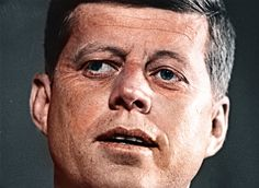 John F. Kennedy. About 1960's. (3501x2562) (colorized)