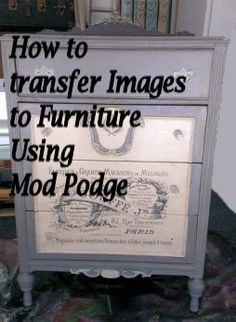 Woodworking Diy How To Make .Woodworking Diy How To Make Decoupage Furniture, Repurposed Furniture, Furniture Projects, Furniture Making, Furniture Makeover, Painted Furniture, Diy Furniture, Furniture Refinishing, Recycling Furniture