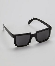 Look what I found on #zulily! Black Pixel Sunglasses by Cutie Pie Kid Couture #zulilyfinds