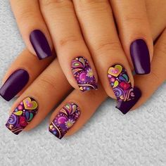 Choose from an Amazing Array of Nail Art Design Purple Nail Art, Purple Nail Designs, Pretty Nail Art, Pink Nails, Nail Art Designs, Best Acrylic Nails, Gel Nail Art, Gel Nails, Fancy Nails