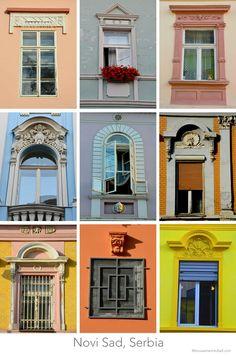 Novi Sad Serbia Windows – Best Travel images in 2019 Serbia Travel, Hotels, Novi Sad, Serbian, Ancient Architecture, Travel Images, Bosnia, Restaurant, Macedonia