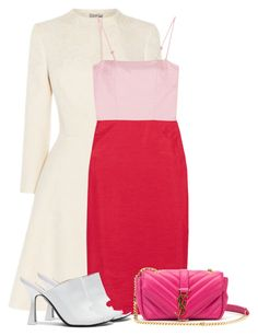 """For the love of Two-Toned Dresses."" by bliznec ❤ liked on Polyvore featuring Staud, Attico and Yves Saint Laurent"