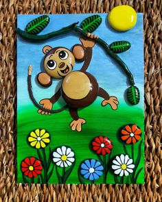 Pebble Painting, Pebble Art, Stone Painting, Pebble Stone, Stone Crafts, Rock Crafts, Painted Rocks, Hand Painted, Art Pierre