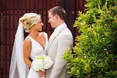 Bride and groom at Villa de Suenos, St. Simon's Island, GA. Beautiful beach front wedding venue!