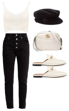 """""""Untitled #5169"""" by lilaclynn ❤ liked on Polyvore featuring Balenciaga, Boohoo, Gucci, Burberry, gucci and boohoo"""