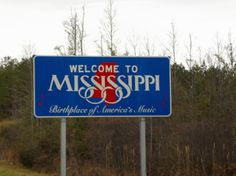 Mississippi's State sign.Thumbs down.Didn't care for at all.