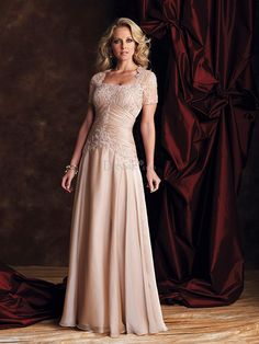 A-Line/Princess Square Sleeveless Ruched Floor-length Chiffon Mother of the Bride Dresses