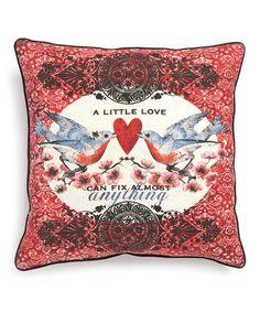 Look at this #zulilyfind! 'A Little Love' Pillow #zulilyfinds