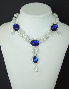 The Lady Helena - Silver Plated Renaissance Medieval Tudor Elizabethan Styled Necklace U Pick Colors