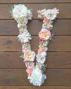 Custom floral letters for a variety of uses- spell out initials, names or a…