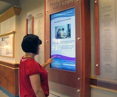 Interactive touchscreen kiosk for hospital shows live content through ARREYA software and Chromebox