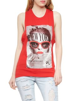 Rainbow Shops Graphic Tank Top with New York Fashion Design Awards Print $6.99